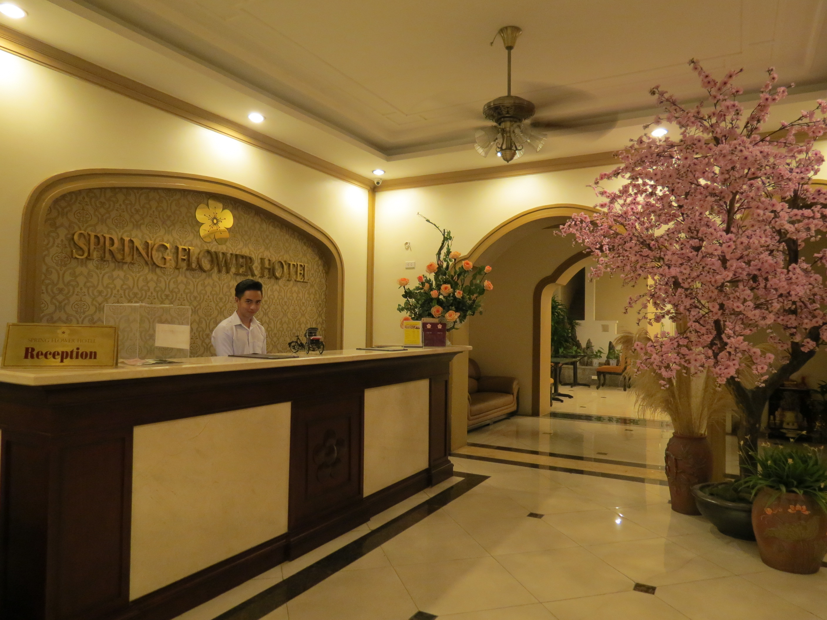 Hotel review spring flower hotel the world by faith as you enter youll see that for a small local hotel the lobby is spacious and well kept mightylinksfo